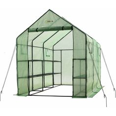 Enhance your porch, patio or deck with this spacious Ogrow portable garden greenhouse with windows. It features a heavy-duty sturdy steel frame, along with strong and durable powder-coated shelving that will hold your heavy plantings off the ground yet allow plenty of room for growth. The strong, durable reinforced green PE cover manufactured from heavy-duty material will give you better protectio >>> Want to know more, click on the image.