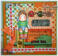 Both Sides of the Paper: Make a Great Boy - Magnolia-Licious and Wee Stamps Challenge - Card for a Boy