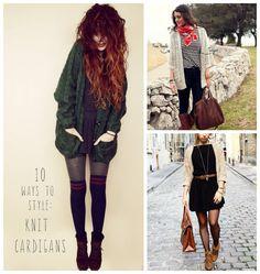 10 Ways to Style: Knit Cardigan