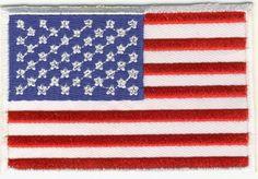 USA Flagga Broderat Tygmärke