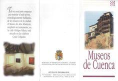 Folleto turístico de museos de Cuenca, con plano de situación de los mismos. Patronato de Desarrollo Provincial de Cuenca, 1997. #Cuenca #Turismo #Museos