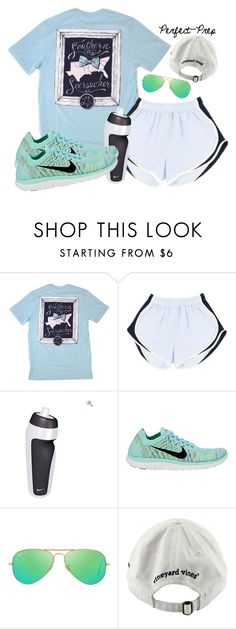 """""""Day 2: Bike Rides!"""" by perfectgabby ❤ liked on Polyvore featuring NIKE, Ray-Ban, Vineyard Vines, women's clothing, women, female, woman, misses, juniors and graciesspringbreak16"""