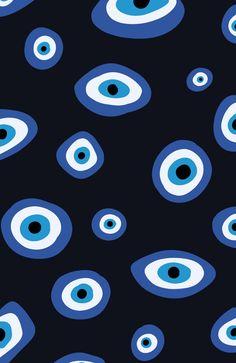 Eyes Wallpaper, Iphone Background Wallpaper, Aesthetic Iphone Wallpaper, Aesthetic Wallpapers, Hippie Wallpaper, Retro Wallpaper, Evil Eye Art, Homescreen Wallpaper, Cute Patterns Wallpaper