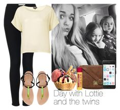 Day with Lottie and the twins by juhteles on Polyvore featuring polyvore fashion style Topshop Zara Nica Burt's Bees clothing