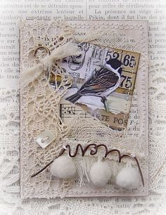 Birds in Stitches ATC Swap - Creating the Crafty Life Atc Cards, Bird Cards, Card Tags, Fabric Journals, Art Journals, Altered Books, Altered Art, Mix Media, Art Trading Cards