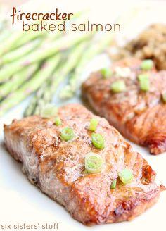 Firecracker Baked Salmon from SixSistersStuff.com