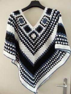 Chevron Crochet Patterns, Crochet Coaster Pattern, Crochet Poncho Patterns, Crochet Scarves, Crochet Designs, Crochet Clothes, Crochet Scarf Tutorial, Chunky Crochet, Crochet Top