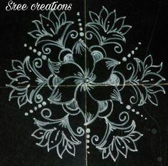 Indian Rangoli Designs, Rangoli Designs Flower, Colorful Rangoli Designs, Beautiful Rangoli Designs, Kolam Designs, Special Rangoli, Free Hand Rangoli Design, Muggulu Design, Rangoli With Dots