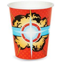 Superhero Comics 9 oz. Paper Cups from BirthdayExpress.com