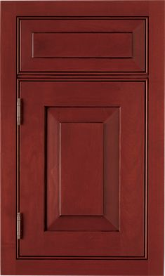 Lancaster Raised door style by #WoodMode, shown in Cinnabar finish with Pewter glaze on cherry.