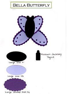 Lavenderstamper: Punch art - Bella Butterfly