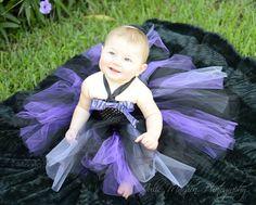 Black and Purple Rocker Chick  tutu dress, newborn-5T, Halloween Costume, Birthday, Photo shoot, Concert #etsymnt #frillygirlclothes