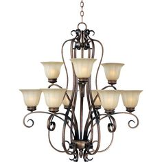 Chapelle 9 - Light Multi - Tier Chandelier - http://chandelierspot.com/chapelle-9-light-multi-tier-chandelier-501735519/
