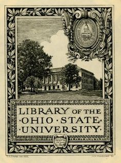 Bookplate by Arthur Macdonald ~Via Estamparcheros Art and Design