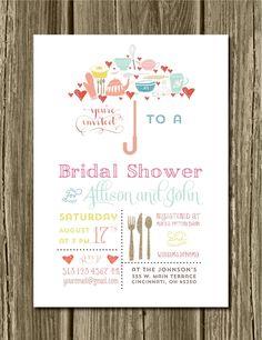 SALE. Digital Umbrella Bridal Shower by MeyerMarketDesigns on Etsy, $13.00