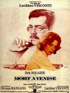 """mort à Venise"" de Visconti avec Dick Bogarde et Silvana Mangano. 1971."