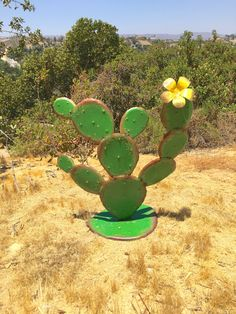Items similar to Cabo Prickly Pear,Metal Yard Art,Southwest Decor,Rustic Design,. Items similar to Cactus Decor, Cactus Art, Cactus Flower, Fake Cactus, Metal Yard Art, Metal Art, Agaves, Garden Crafts, Garden Art