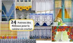 Crochet Archives - Page 2 sur 6 - C'est fait maison ! Crochet Curtains, Valance Curtains, Home Design 2017, House Design, Zen, Filet Crochet, Felt Flowers, Baby Dress, Ideas Para