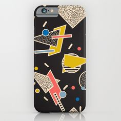 Phone Cases / iPhone 6 Slim Case Memphis Inspired Pattern $35.00 Memphis, AOP, pattern, repeat, Milan, geometric, modern, 80s, inspired, retro, vintage, graphic, eames season of victory, seasonofvictory, season_of_victory, #seasonofvictory