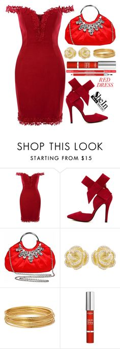 """Hot red dress"" by simona-altobelli ❤ liked on Polyvore featuring mode, Effy Jewelry, Bold Elements, L'Oréal Paris, Lancôme, Sheinside, reddress, polyvorecontest en shein"
