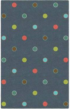 Brumlow Mills Casual Polka Dots Printed Rug. #arearugs #bluerugs #flooring #carpets #afflnk