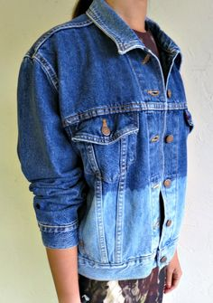 """The Levi's Dark Wash """"Dipped"""" Jacket $100.00"""