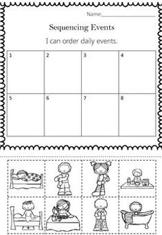 Arts And Crafts Supplies Math Classroom, Classroom Activities, Daily Routine Worksheet, Daily Routines, Sequencing Activities, Sequencing Events, Sequence Of Events Worksheets, Ingles Kids, Kindergarten Social Studies