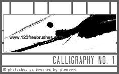 Calligraphy Stroke - Download  Photoshop brush http://www.123freebrushes.com/calligraphy-stroke/ , Published in #GrungeSplatter. More Free Grunge & Splatter Brushes, http://www.123freebrushes.com/free-brushes/grunge-splatter/ | #123freebrushes