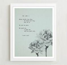 Poetry Art  Lang Leav  Poetry Print  He and I  by Riverwaystudios