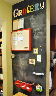 Use one of our magnetic chalkboards to organise your kitchen