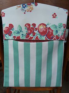 Adorable vintage fruit. Looks like this was made from a 1950s table cloth.