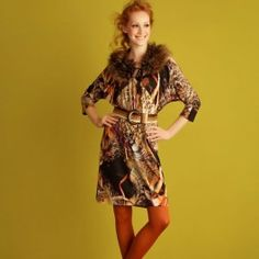 Bohemien tricot jurk. Maak deze jurk van een soepel tricot met inkjetdessin voor een schilderachtige look.