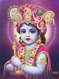 Krishna, depicted here as the impossibly beautiful, poisoned child.
