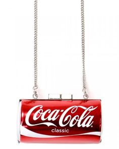 17 Trendy Food-Inspired Clutches, Phone Cases  More - Shop Jeen Coca Cola Classic Purse, $24 (on sale), shopjeen.com - http://www.flare.com/fashion/fast-food-fashion-trend/