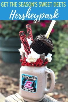 Get this Hersheypark monster shake in Hershey, PA. If you're heading to this theme park this summer, get the Hersheypark details here! Family Theme, Family Love, Hershey Park, East Coast Travel, Chocolate Shake, I Want To Travel, Legoland, One And Other, Day Trips