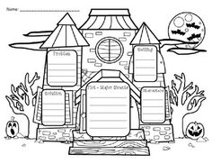 "Free Haunted House Story Elements - Use these ""Haunted House Story Elements"" graphic organizer for any Halloween-themed story that you are reading!"