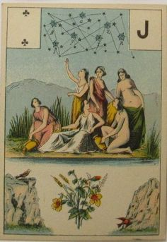 J♣ antique tarot deck (actually, looks like a Lenormand card to me. The bouquet.)