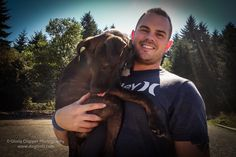 Seattle dogs and their people - Jesse Aust and Ruxin are frequent visitors at Westcrest Off-leash dog park. Image from Gloria Cropper Photog...
