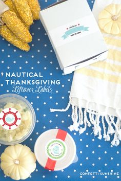 eighteen25: Nautical Inspired Thanksgiving Leftover Labels