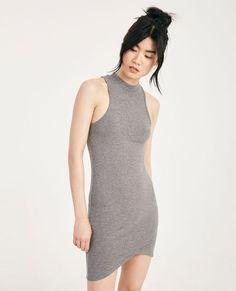 Mock Neck Wrap-Front Bodycon Dress | Wet Seal