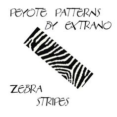 Peyote Bracelet Patterns by Extrano - ZEBRA STRIPES - 2 colors ONLY - Instant download