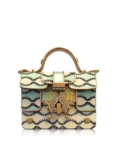 Giancarlo+Petriglia+Romantic+Multicolor+Printed+Elaphe+Leather+Mini+P+Bag