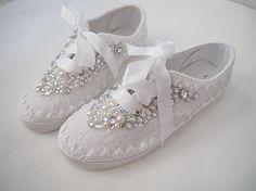 Boda zapatos tenis zapatillas elegante encaje por ShellsandBlooms