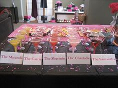 Sex and the city bridal shower theme