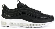 Nike Air Max 97 Premium Sneakers With Embossed Leather In Black Air Max 97, Nike Air Max, Air Max Sneakers, Sneakers Nike, Nike Shoes, Patent Leather, Black Leather, Trainers, Nike Women