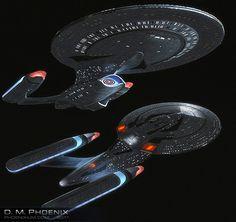 Allegiance class from Star Trek Akira, Science Fiction, Starwars, Sci Fi Ships, Sto Ships, Starfleet Ships, Star Trek Characters, Ship Of The Line, Star Trek Starships