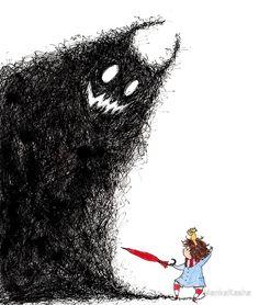 Manka Kasha The Warrior Monster Illustration, Children's Book Illustration, Watercolor Illustration, Watercolor Art, Whimsical Art, Cute Drawings, Cute Art, Art Sketches, Painting & Drawing