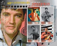 Elvis Presley Stamps | country gambia topic elvis presley item elvis presley speedway ...