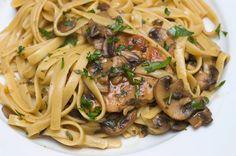 Sugar & Spice by Celeste: Pork Tenderloin Medallions with Marsala Sauce and Pasta