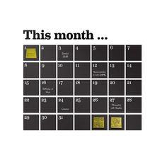 Ferm Living Wandsticker Kalender